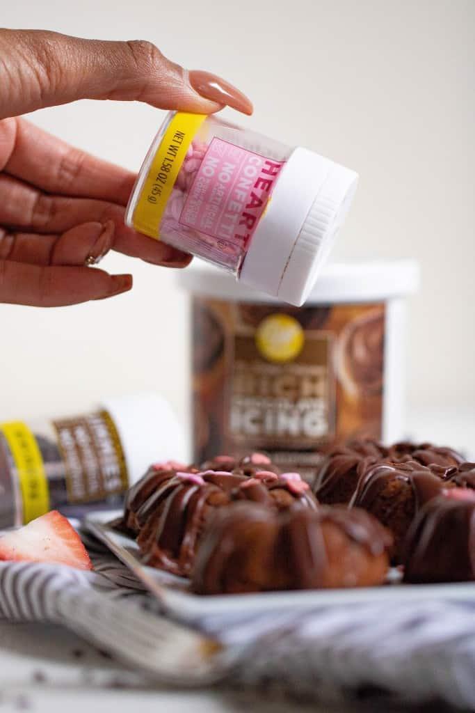 Valentine's Day Mini Chocolate Brownie Bundt Cakes