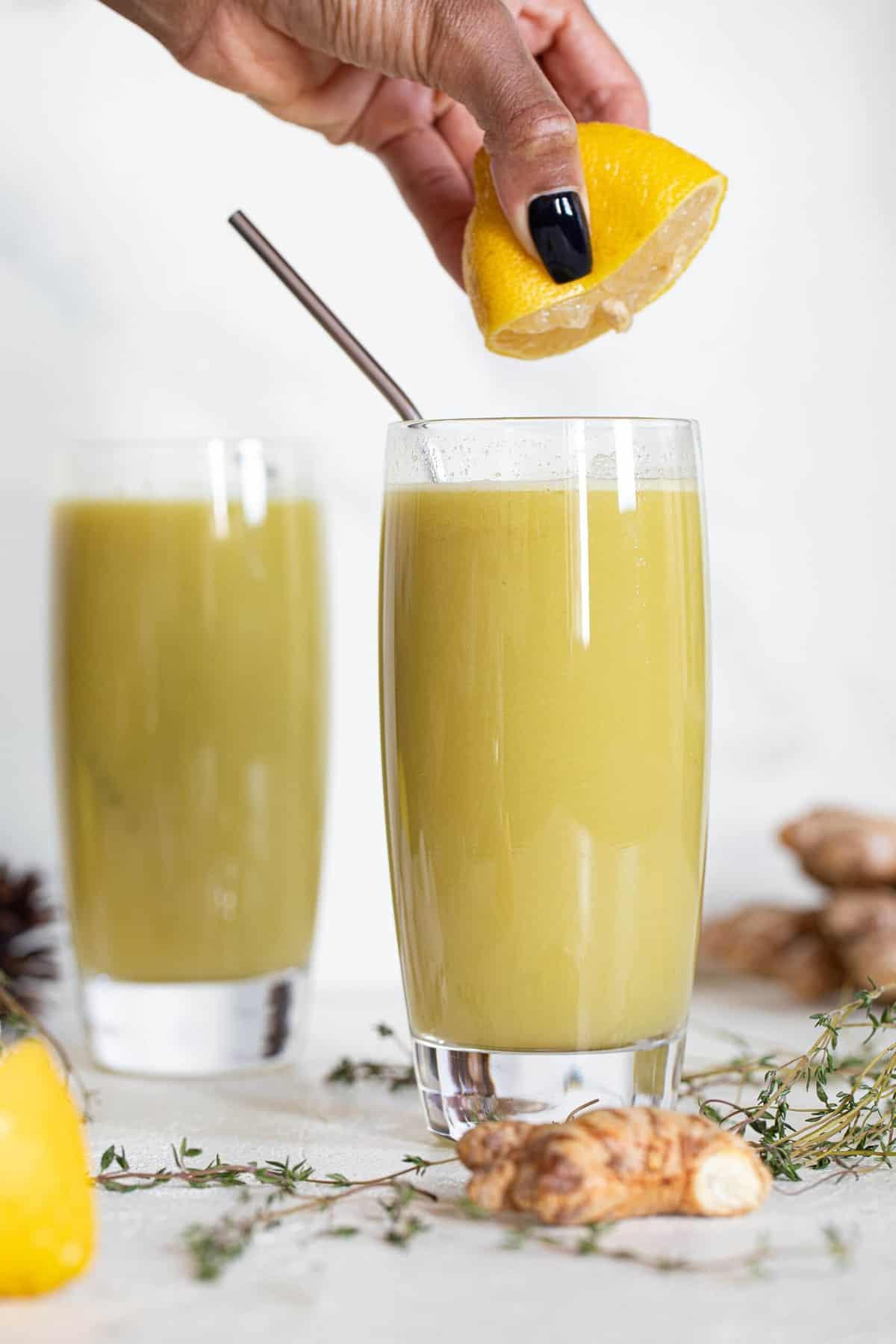 Cucumber Ginger Lemon Detox Juice