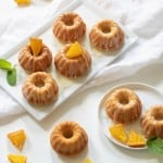 Orange Olive Oil Mini Bundt Cakes