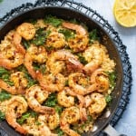 Spicy Cajun Shrimp, Kale + Cauliflower Rice