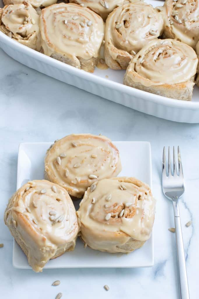 Delicious Vegan Sunflower Butter Cinnamon Rolls