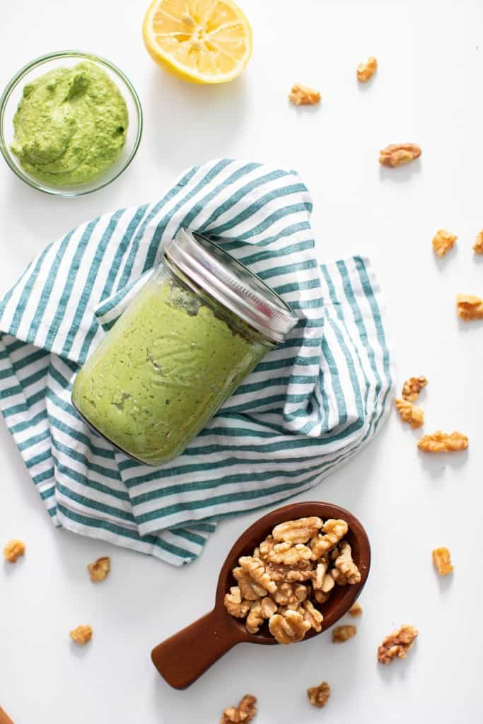 Avocado Kale + Spinach Pesto Sauce