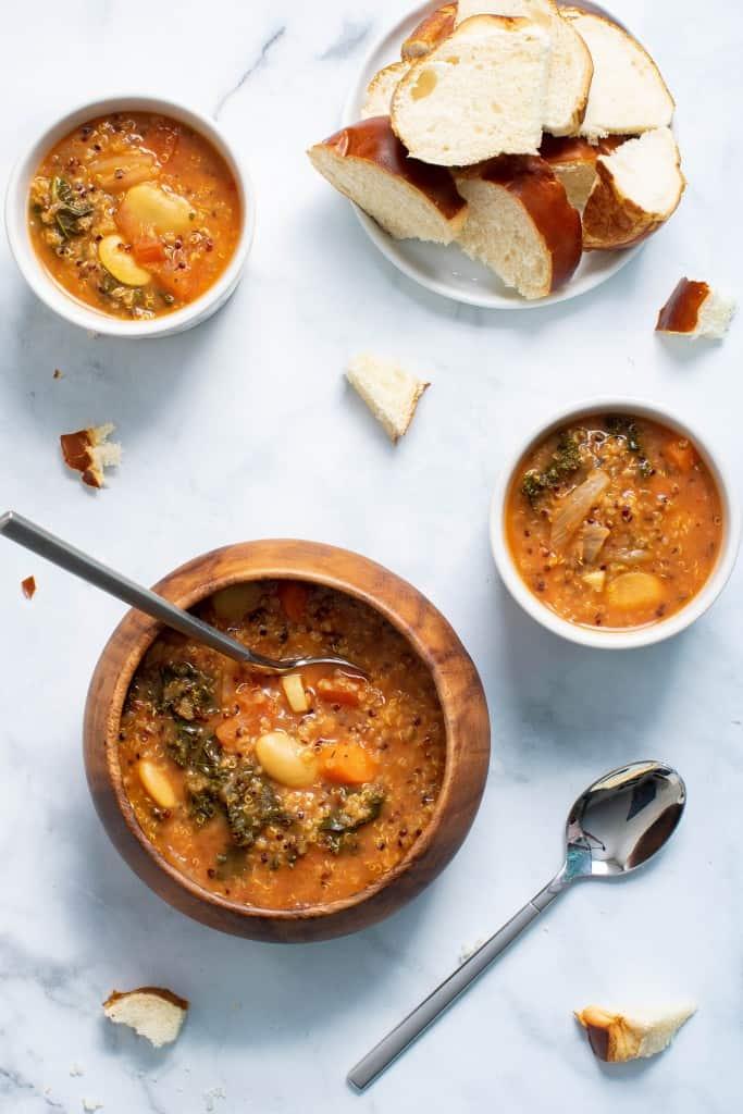 Slow Cooker Quinoa Veggie Soup