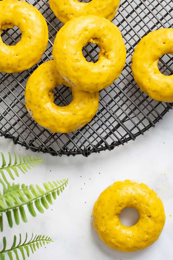 Vegan Lemon Poppy Seed Donuts