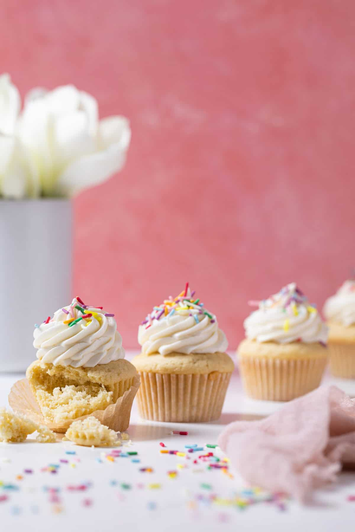 The Best Vanilla Cupcakes with Buttercream Frosting