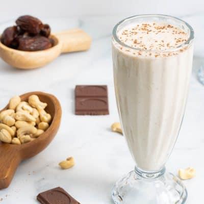 Healthy Cashew Date Morning Shake