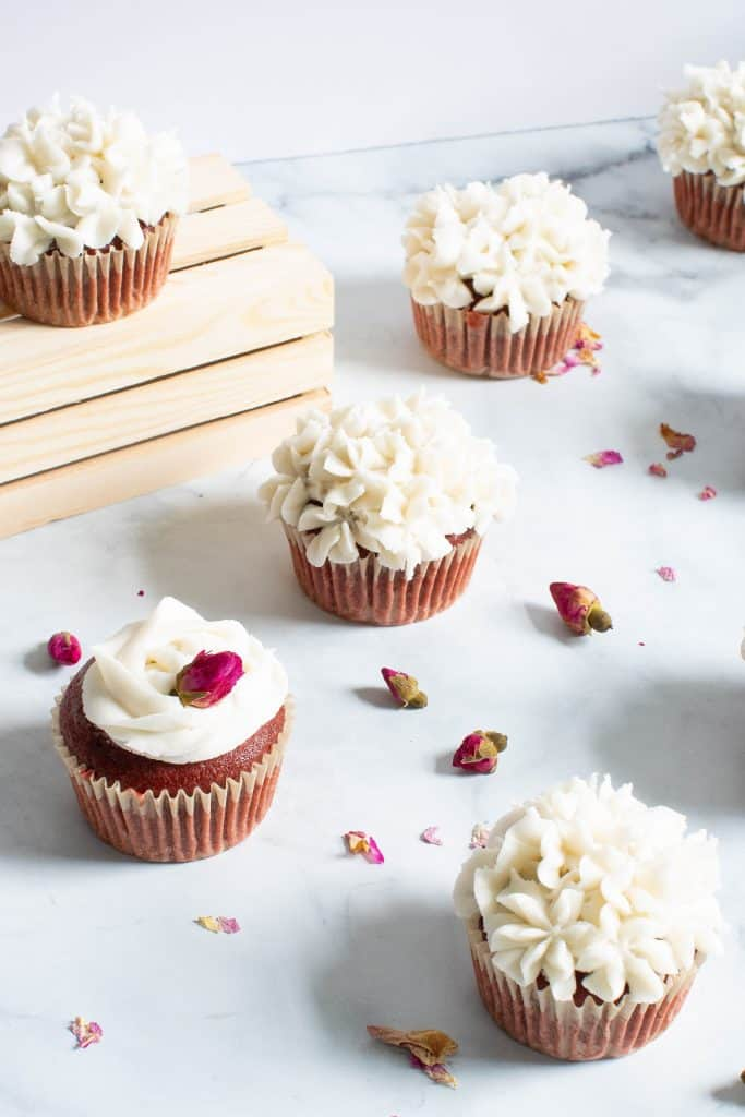 Vegan Red Velvet Cupcakes + Vanilla Buttercream