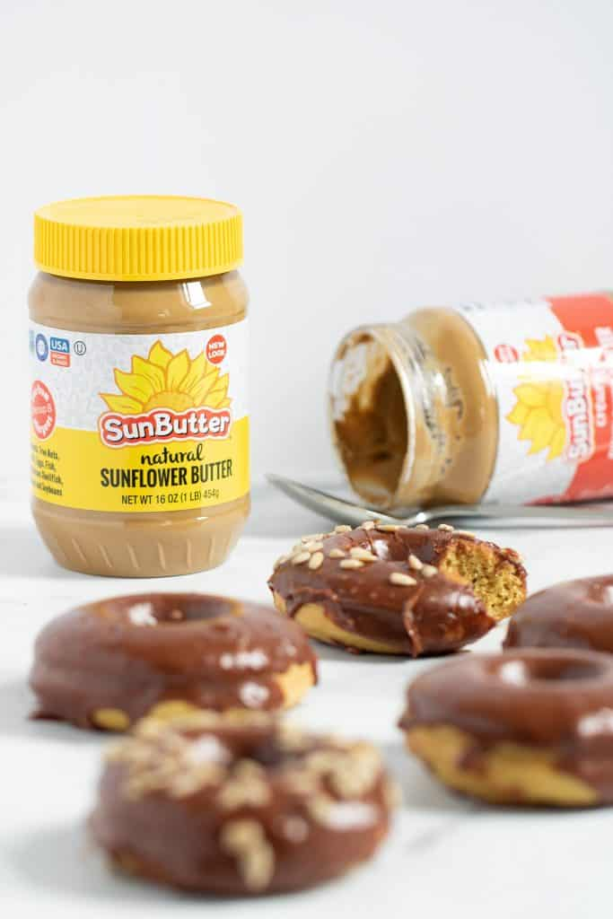 Vegan Sunflower Butter + Chocolate Doughnuts