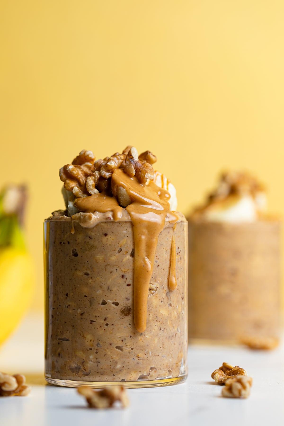Banana Peanut Butter Overnight Oats