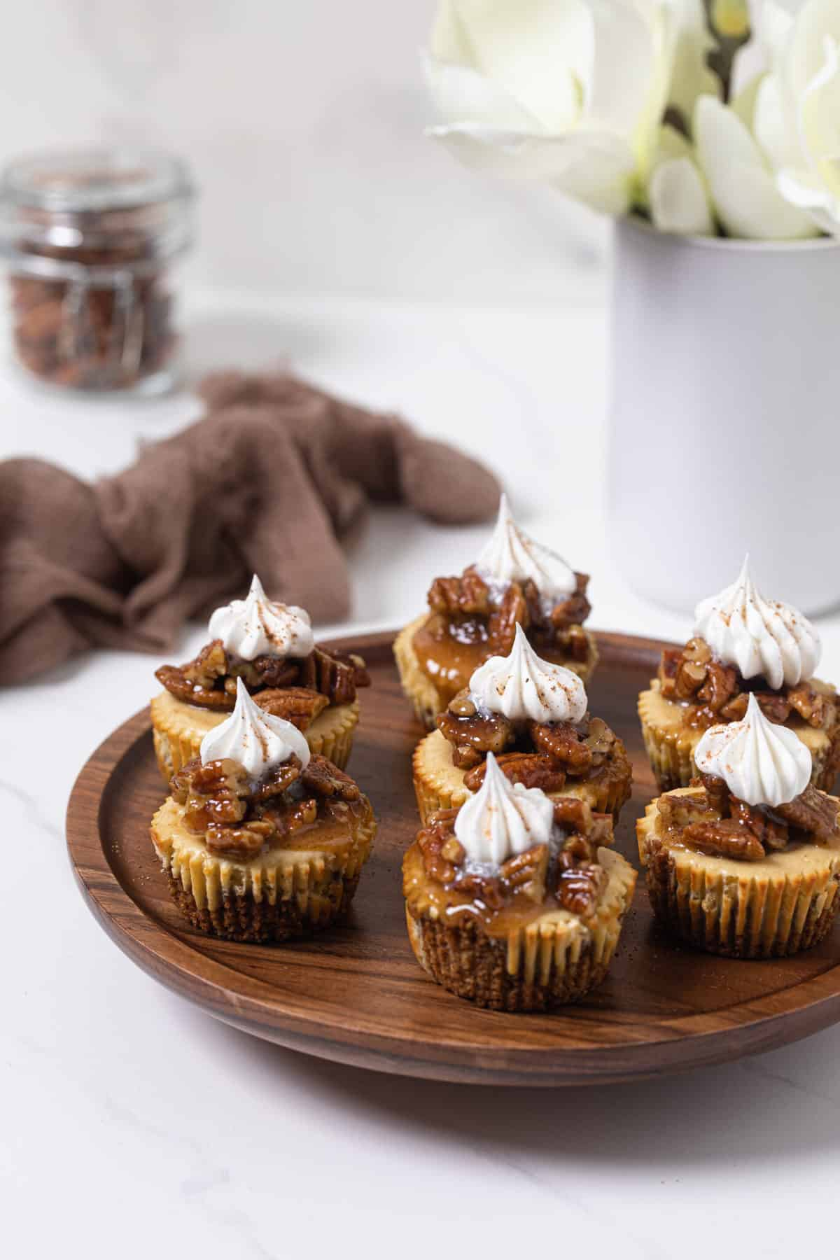 Pecan Pie Cheesecake Bites