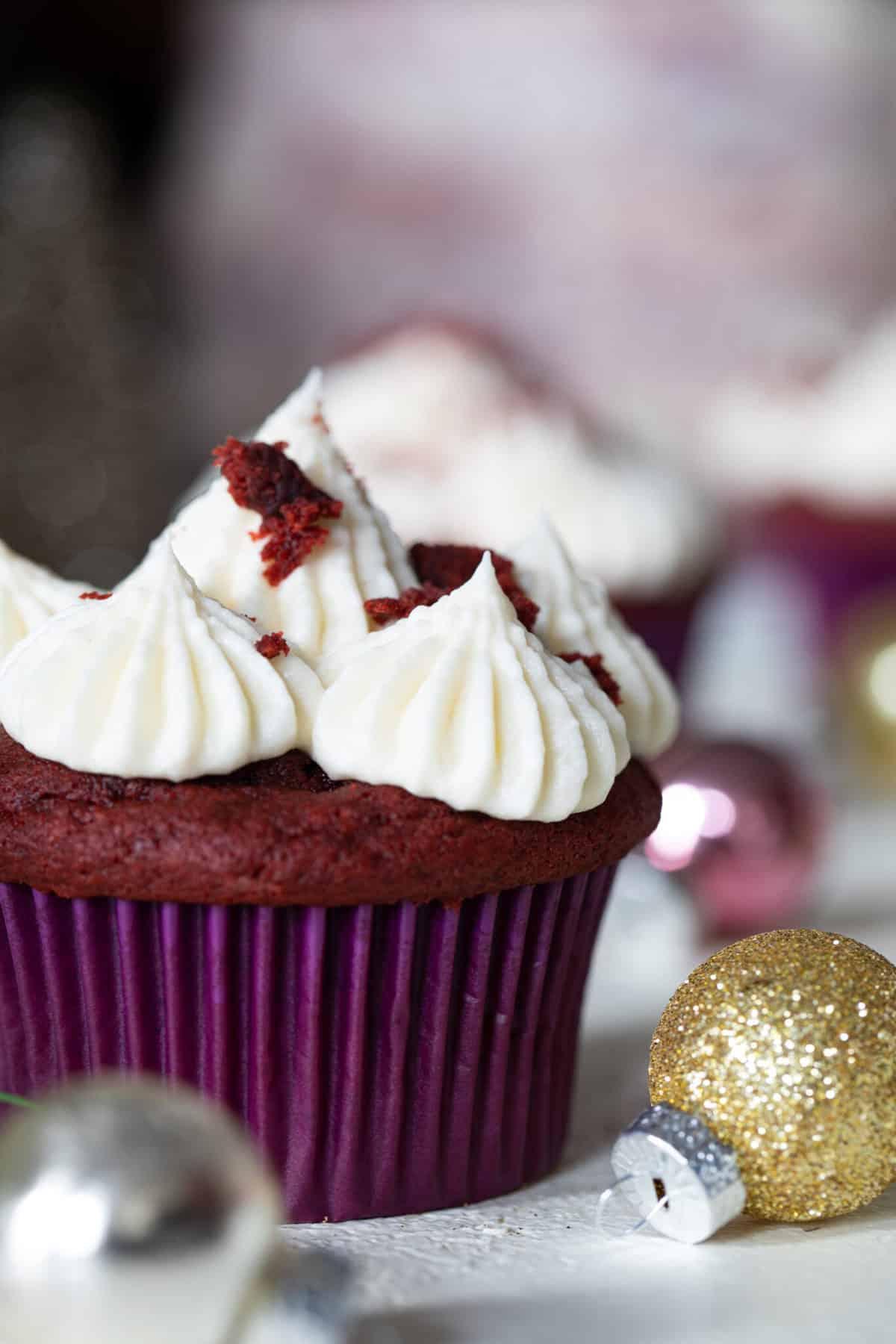 Vegan Red Velvet Cupcakes + Bourbon Vanilla Buttercream