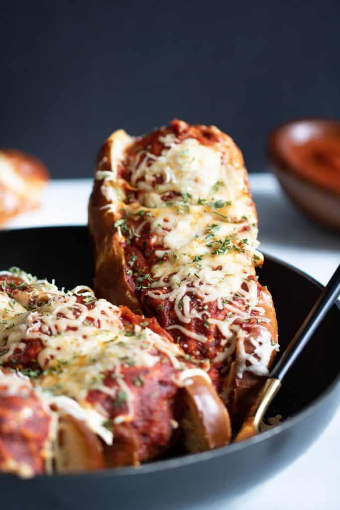 Homemade Vegan Chickpea Quinoa Meatball Subs