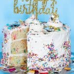 Vegan Funfetti Cake + Vanilla Buttercream