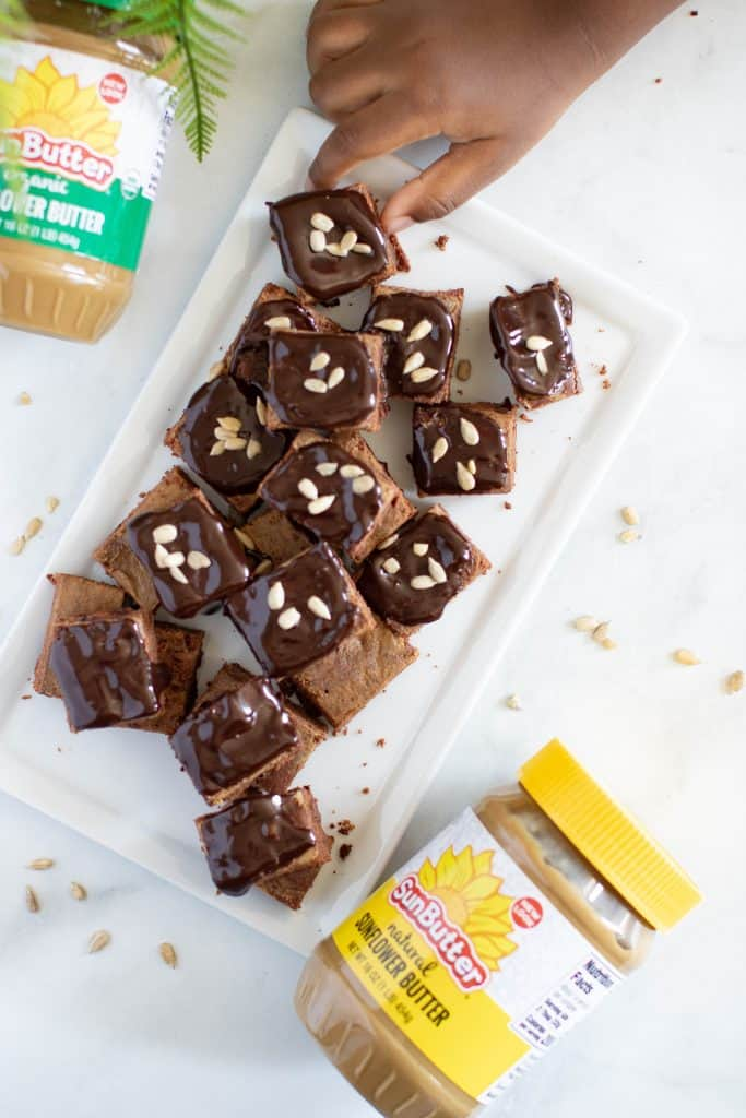 Mini Sunflower Butter Brownie Bites