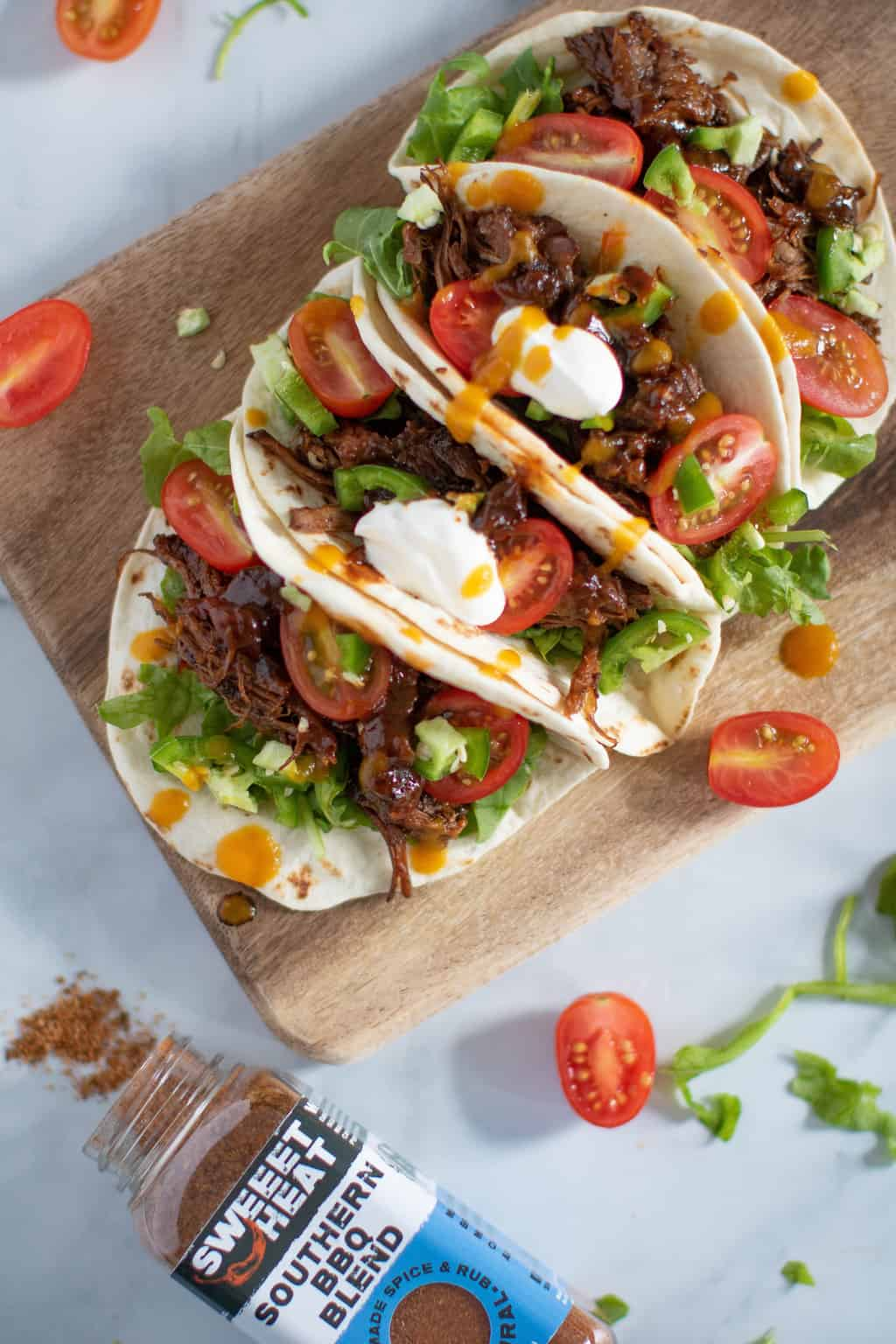 Sweet Heat BBQ Braised Rib Tacos