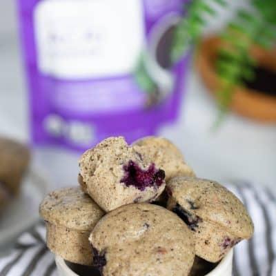Vegan Blueberry Acai Mini Muffins