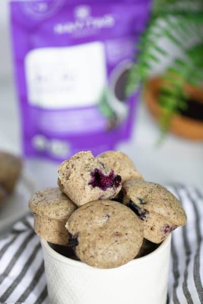 Vegan Blueberry Acai Mini Muffins