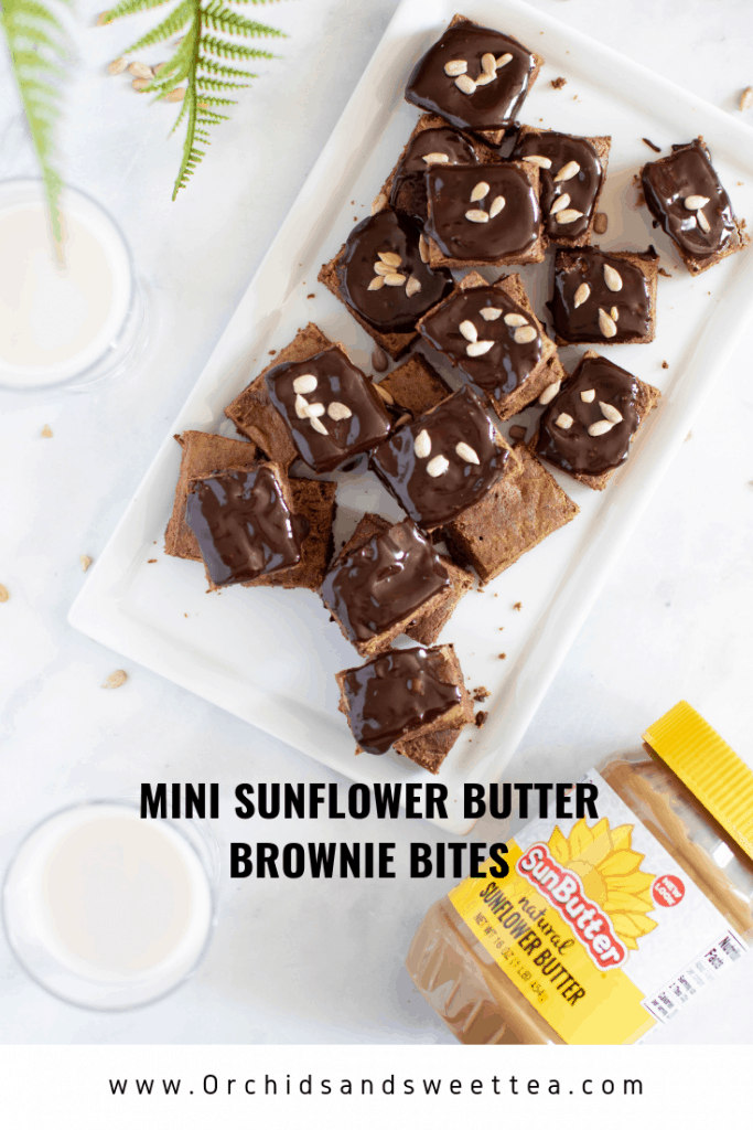 Mini Sunflower Butter Brownie Bites