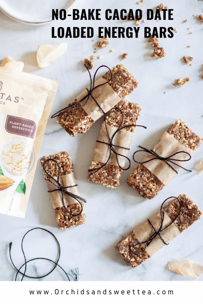 No-Bake Cacao Date Loaded Energy Bars