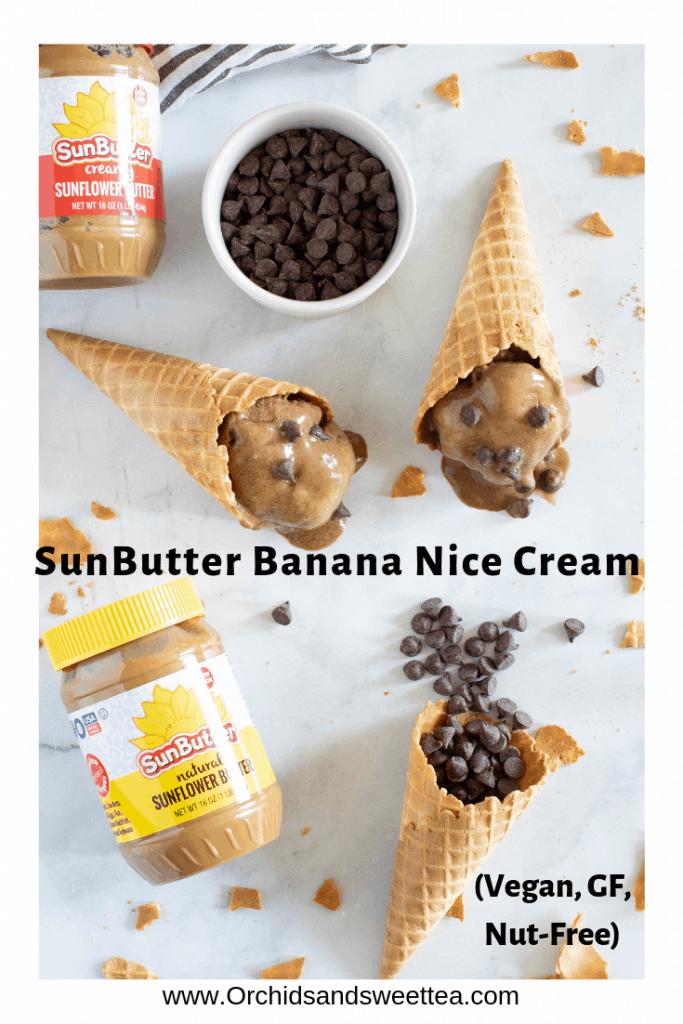SunButter Banana Nice Cream (Vegan, Gluten-Free, Nut-Free)