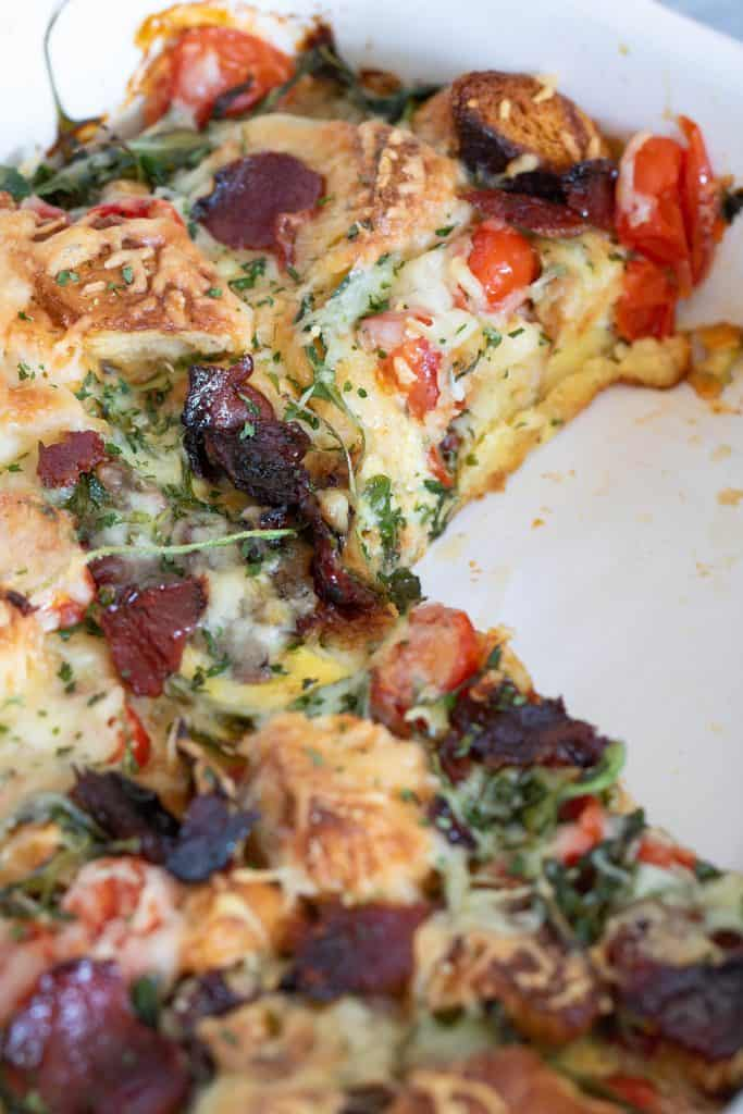 Brooklyn-inspired Loaded Bacon, Egg, + Cheese Casserole