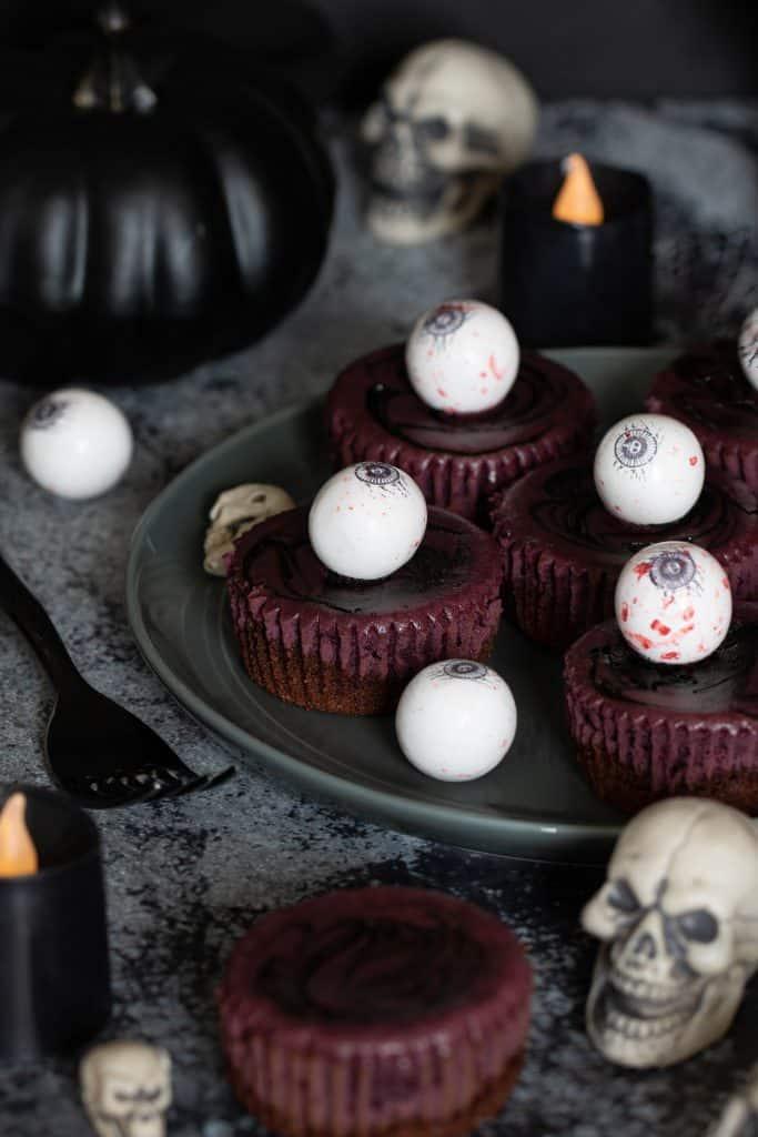 Classic Halloween Graveyard Cheesecake Bites