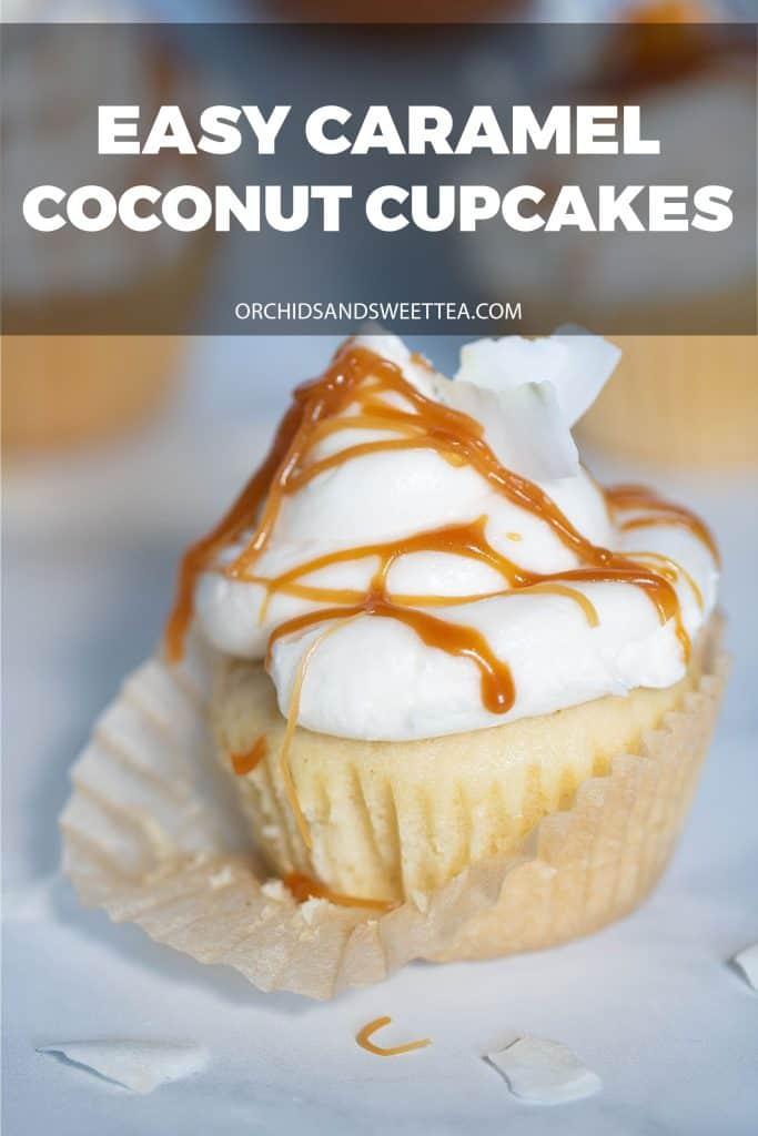 Easy Caramel Coconut Cupcakes