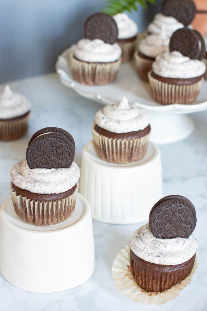 Vegan Chocolate Cupcakes + Oreo Buttercream