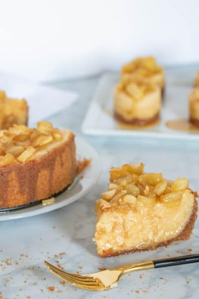 Best Caramel Apple Spice Cheesecake