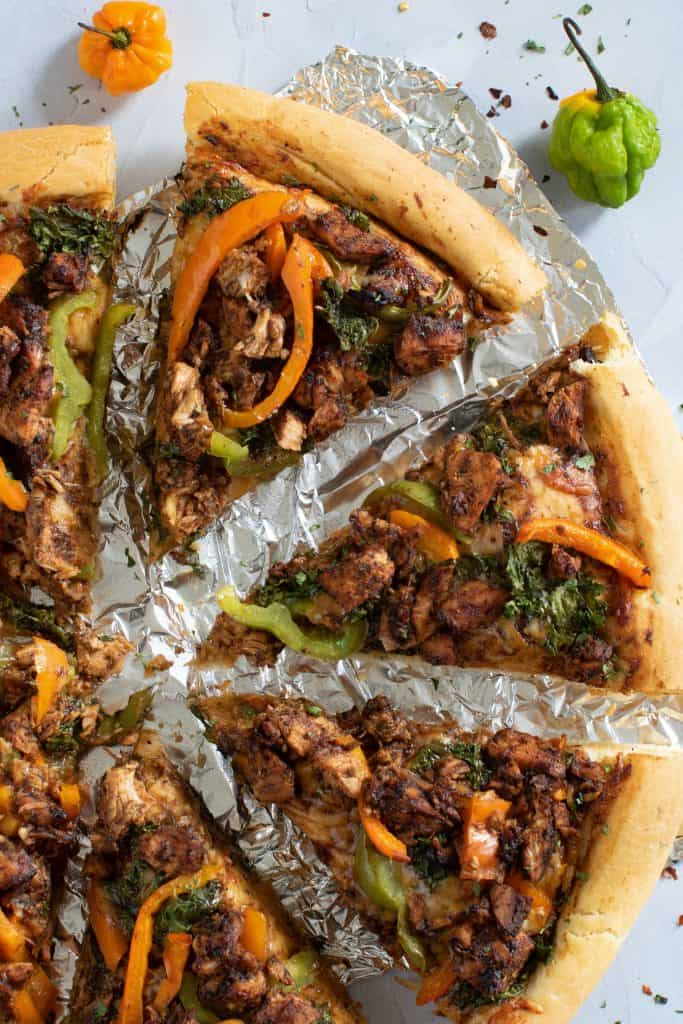 Best Homemade Jamaican Jerk Chicken Pizza