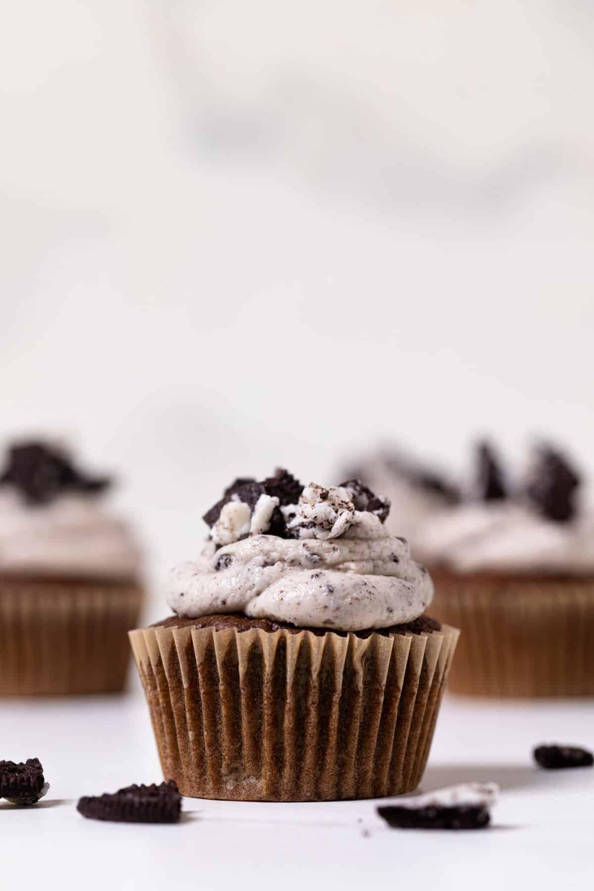 Vegan Chocolate Oreo Cupcakes
