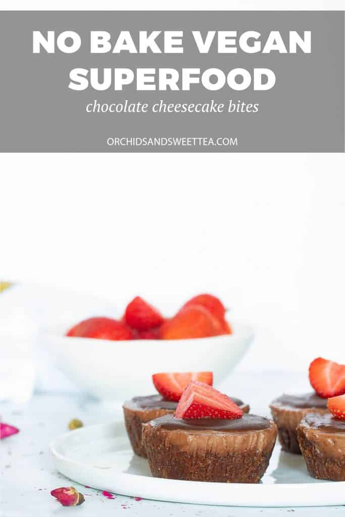No-Bake Vegan Superfood Chocolate Cheesecake Bites