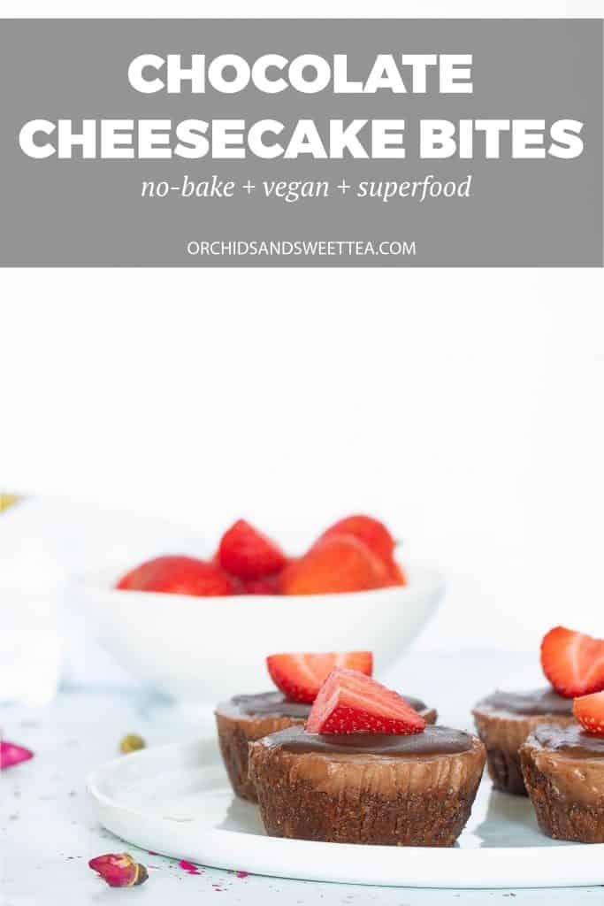 No-Bake Vegan Superfood Chocolate Cheesecake Bites