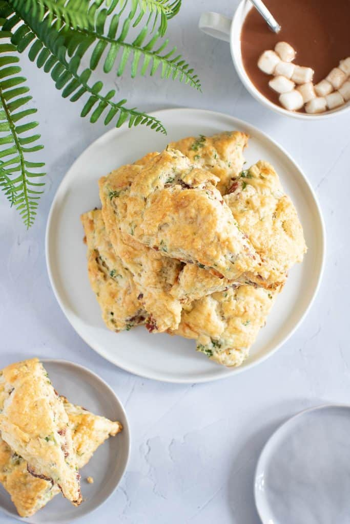 Bacon, Cheddar, + Veggie 'Sunrise' Scones