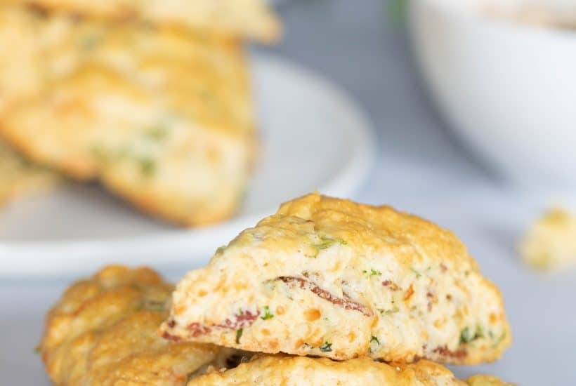 Bacon, Cheddar, + Veggie 'Sunrise' Scones
