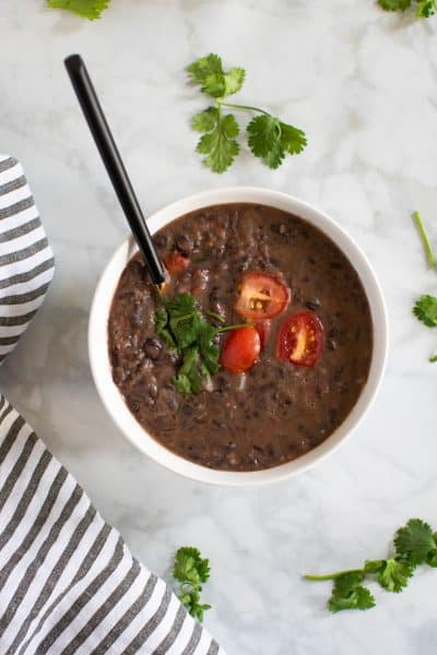 Easy Vegan Black Bean Soup
