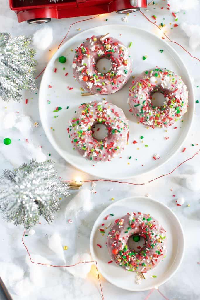 Vegan Red Velvet Baked Donuts