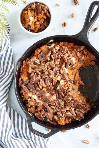 Vegan Skillet Sweet Potato Casserole