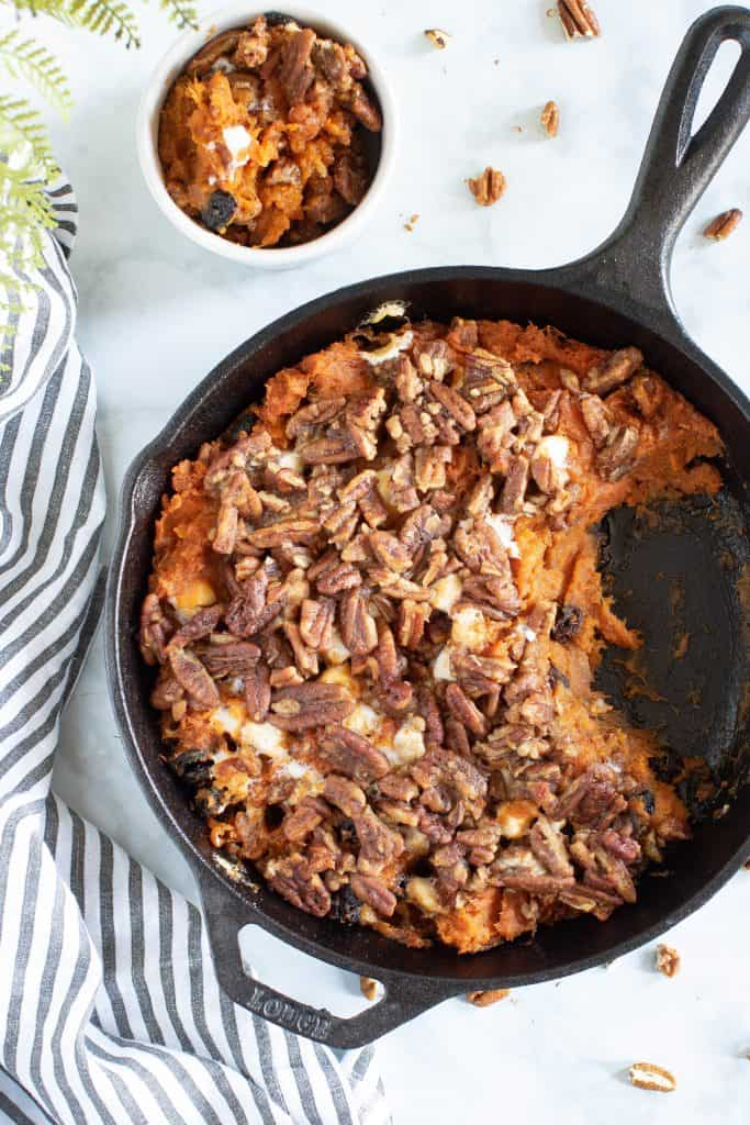 Vegan Skillet Sweet Potato Casserole