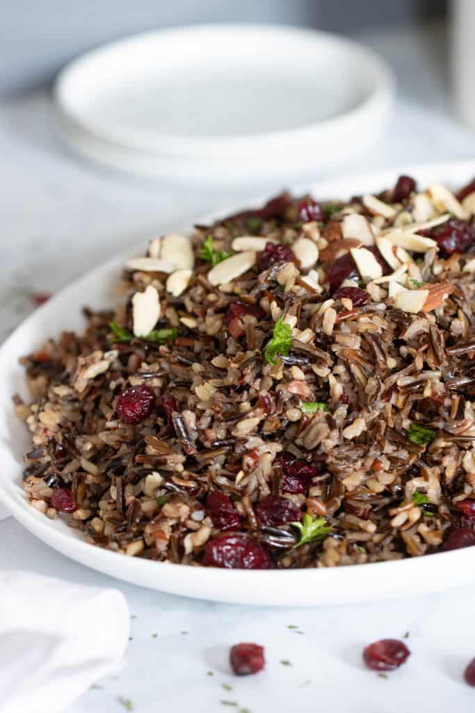 Easy Vegan Wild Rice Stuffing