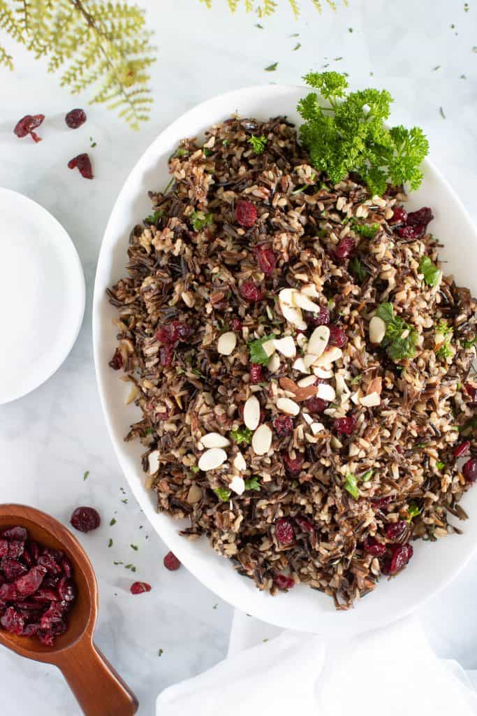 Easy Vegan Wild Rice Stuffing