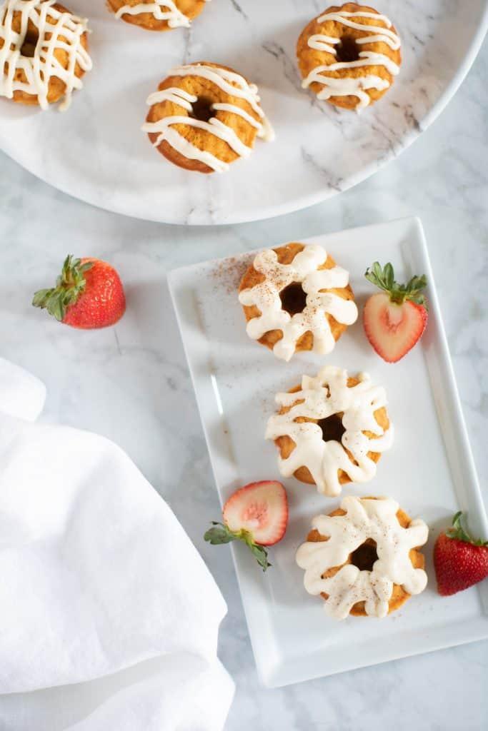 Mini Sweet Potato Bundt Cakes + Cream Cheese Frosting