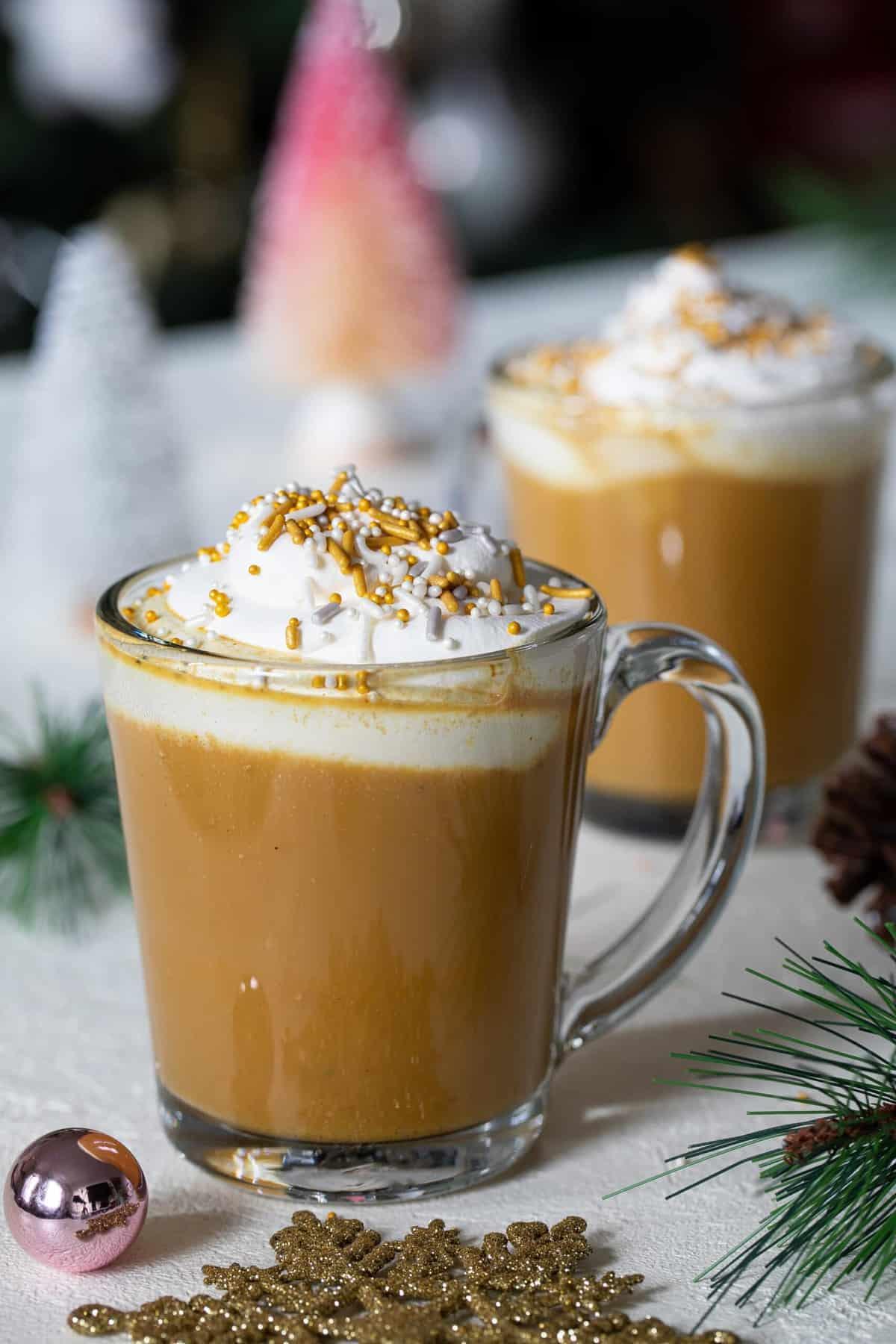 Vegan Chai Tea Latte with Turmeric