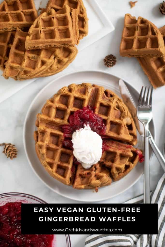Easy Vegan Gluten-Free Gingerbread Waffles