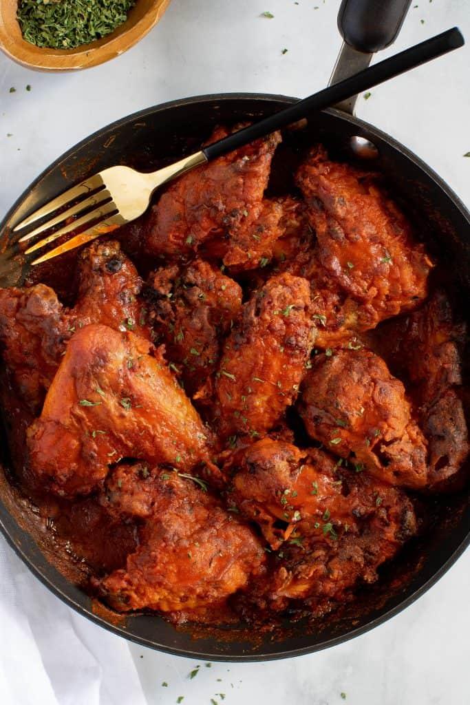 Baked Skillet Buffalo Wings