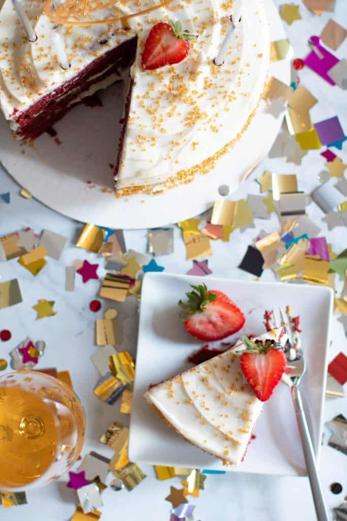 Classic Red Velvet Cake + Cream Cheese Frosting