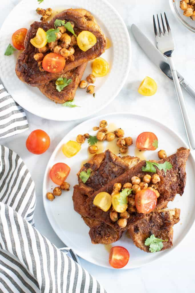 Savory Cinnamon French Toast + Cajun Chickpea