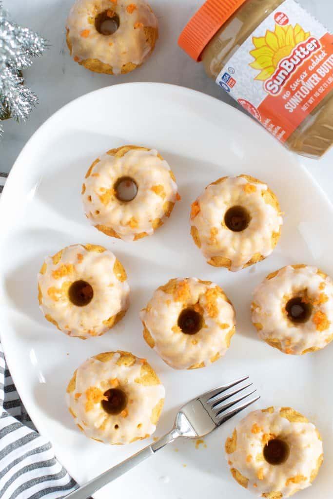 Mini Carrot SunButter Bundt Cakes