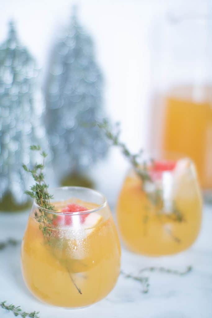 Honey Grapefruit Pineapple Thyme Mocktail