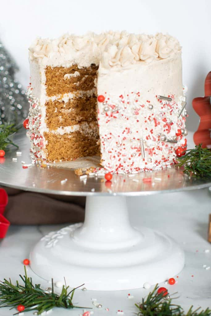 Vegan Gingerbread Cake + Chai Buttercream